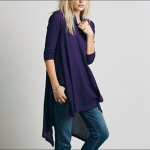 We the Free Wonder Woman Thermal Tunic Top Purple